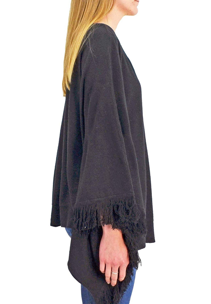 Roffe Accessories Audrey Poncho Black