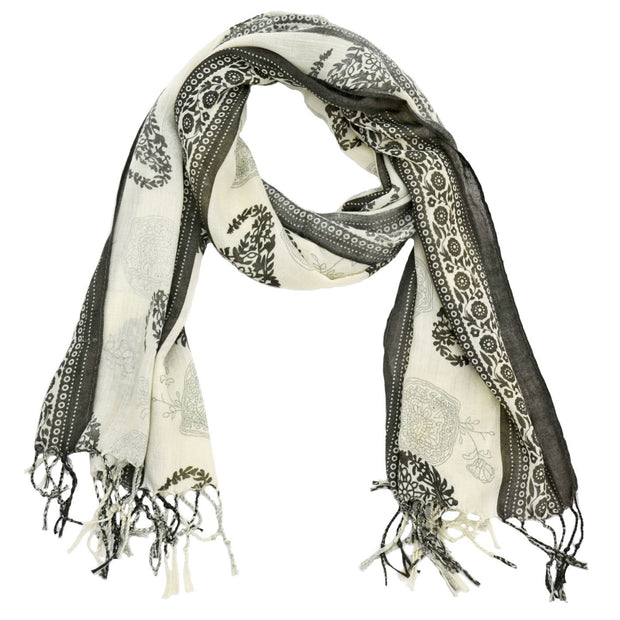 Karly Paisley and Floral Print Scarf
