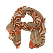 Trina Abstract Animal Print Scarf