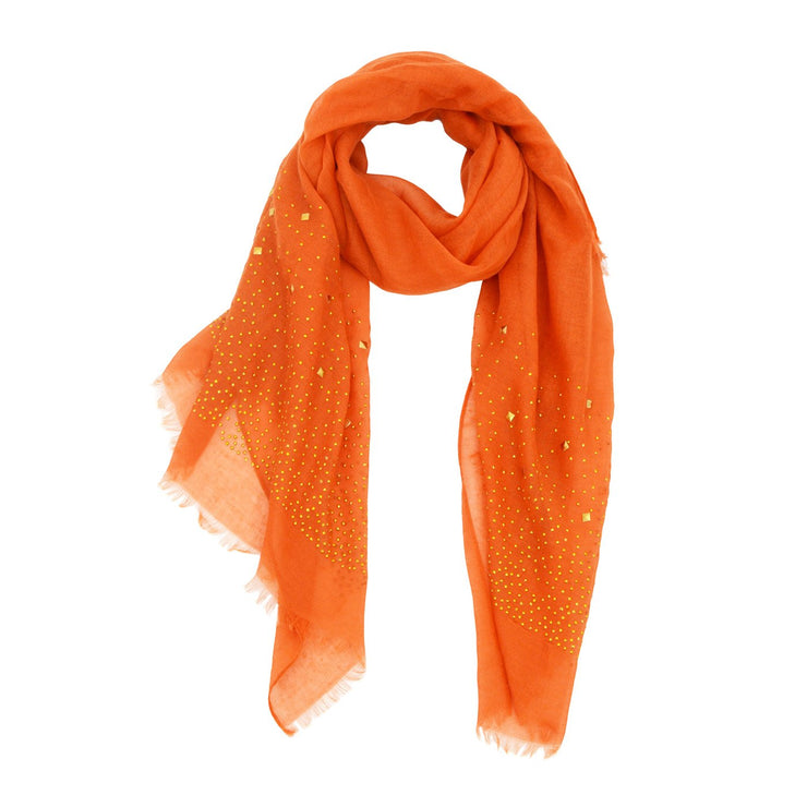 Erica Embellished with Trim Scarf