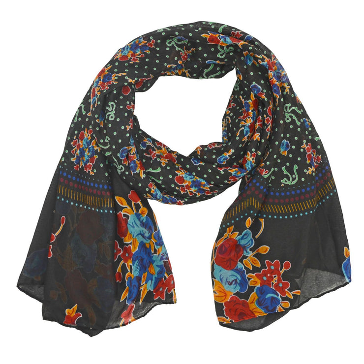 Nell Floral Dots Scarf