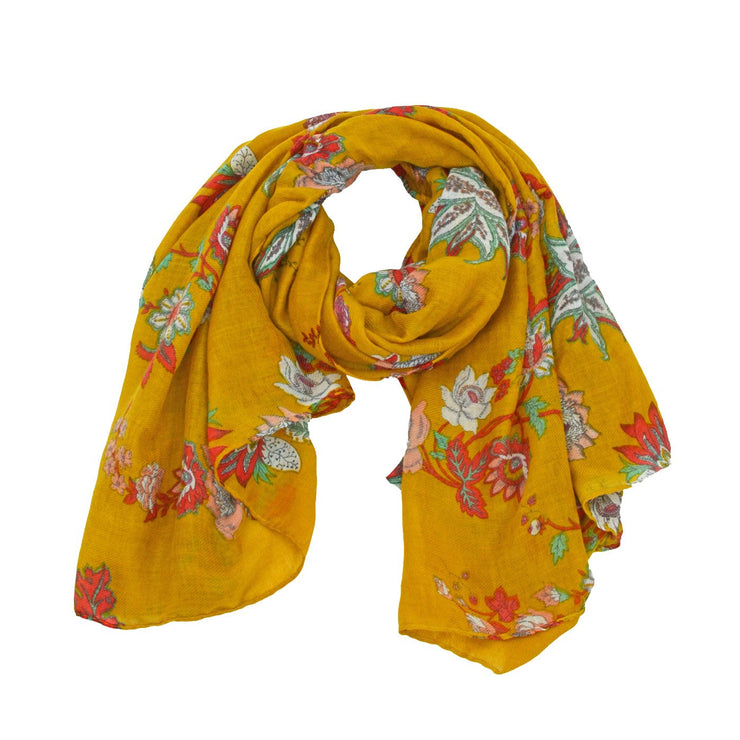 Adriana Abstract Floral Print Scarf
