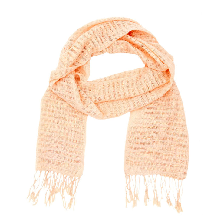 Rosalie Cotton Mesh with Trim Scarf