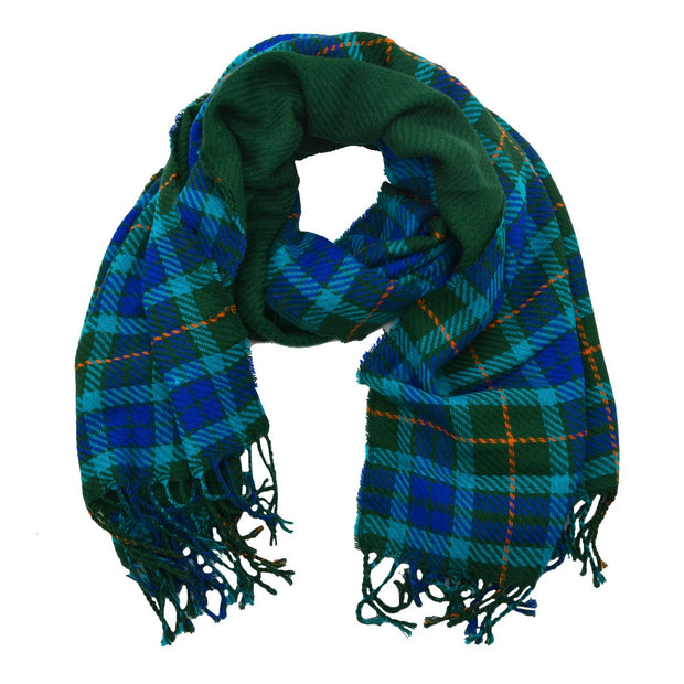 Britney Plaid Reversible Scarf with Trim