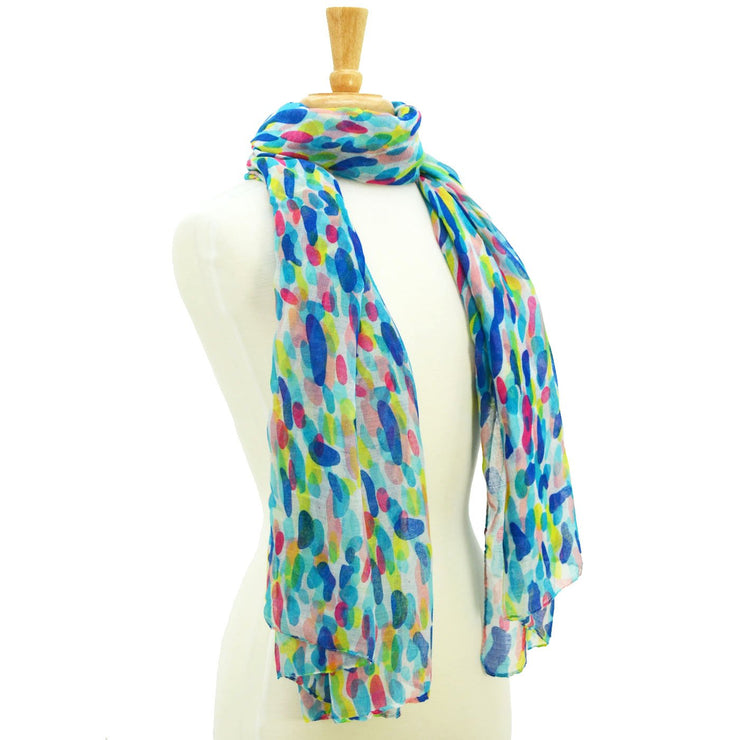 Heather Watercolor Print Scarf