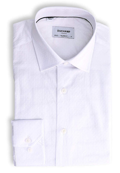 Duchamp London White Dots Dress Shirt