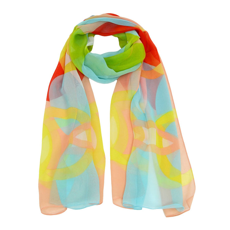 Nicole Multi-Colored Splash Scarf
