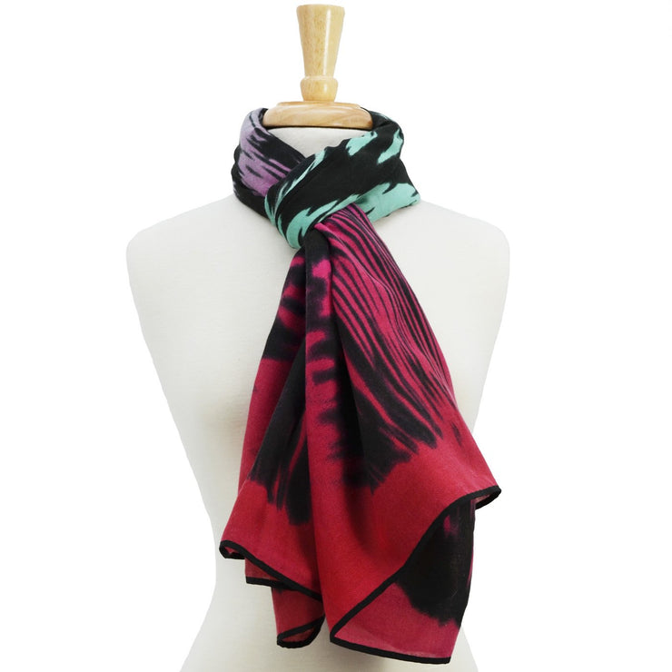 Andrea Ombre Animal Print Scarf