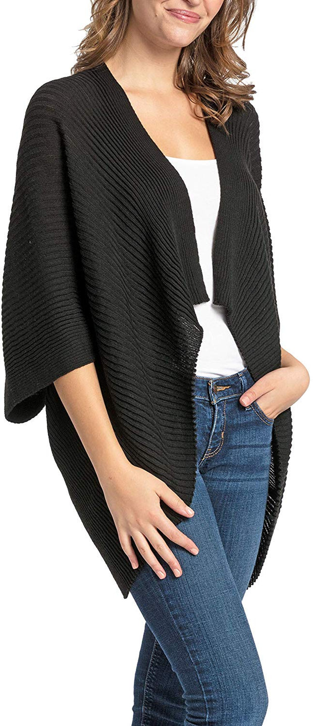 Save the Ocean Recycled Black Knit Kimono