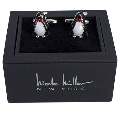 Nicole Miller Studio Penguin Cuff Links