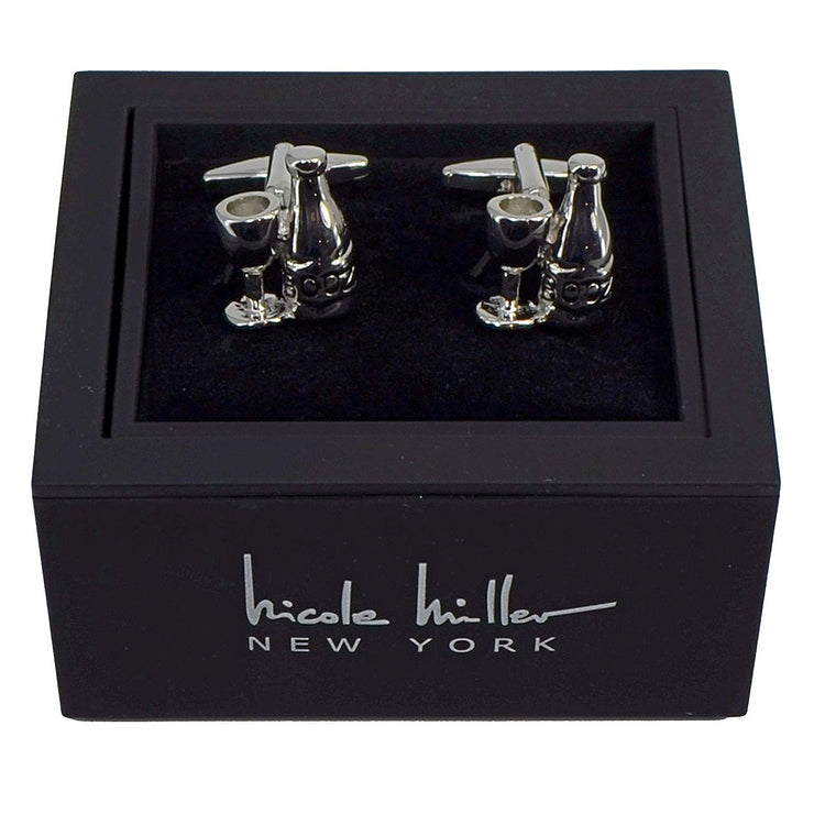 Nicole Miller Studio Wine Cuff Links