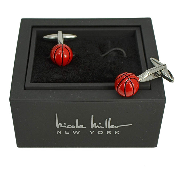 Nicole Miller Studio Basketball Cuff Links