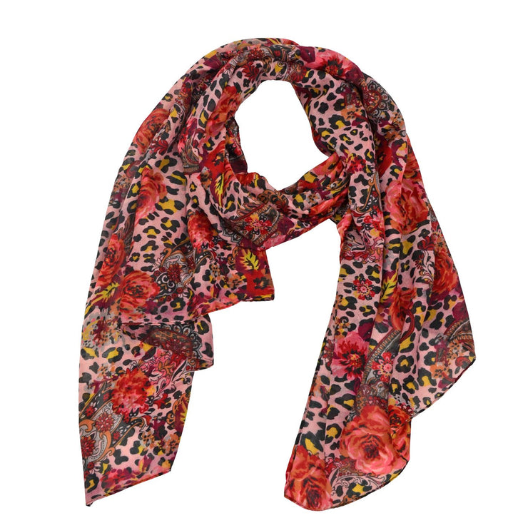 Khloe Animal Flower Print Scarf