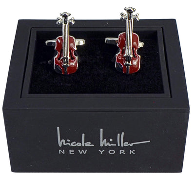 Nicole Miller Studio Cello Cuff Links