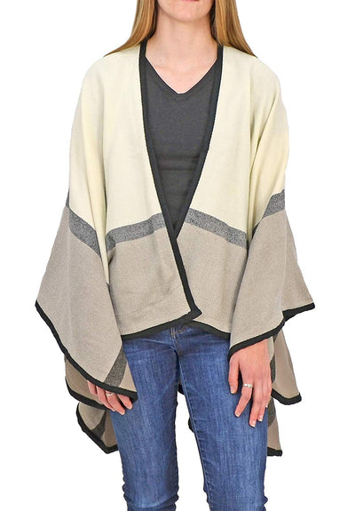 Roffe Accessories Gemma Poncho Ivory