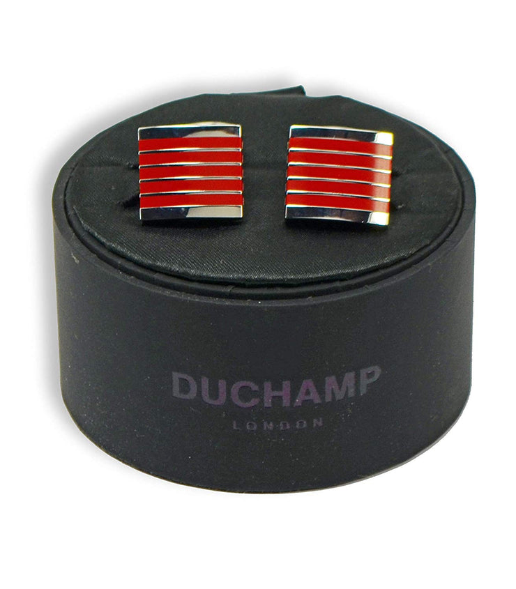 Duchamp London Red Enamel Cuff Links
