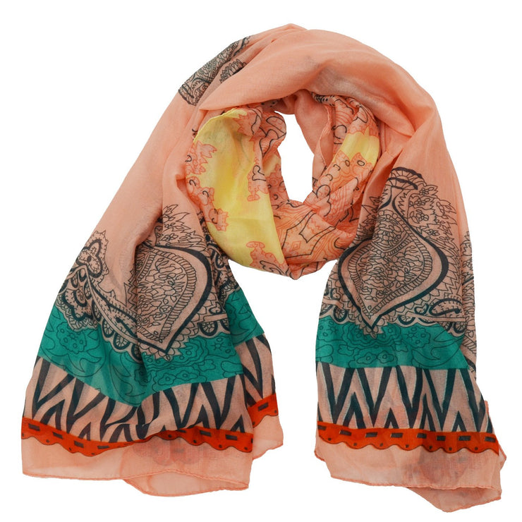 Madeline Paisley Print Scarf