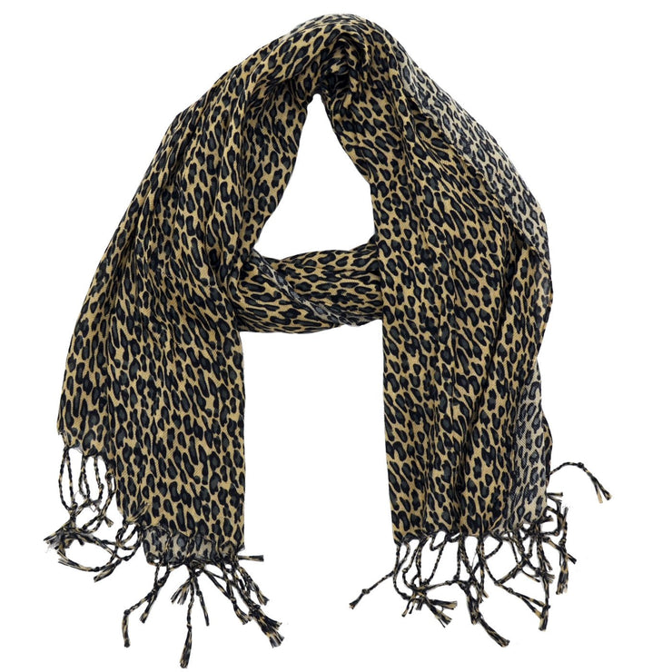 Grace Solid Animal Print Scarf