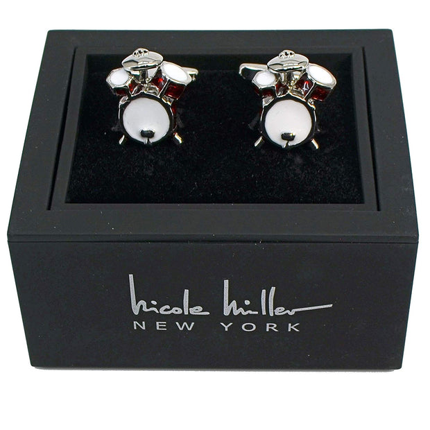 Nicole Miller Studio Drums Cuff Links