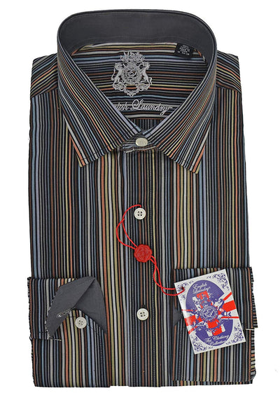 English Laundry Multi Stripe Dress Shirt