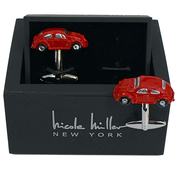 Nicole Miller Studio Red Car Cuff Links