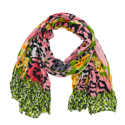 Alice Wild Floral Crinkle Scarf