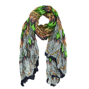 Leann Abstract Crinkle Scarf