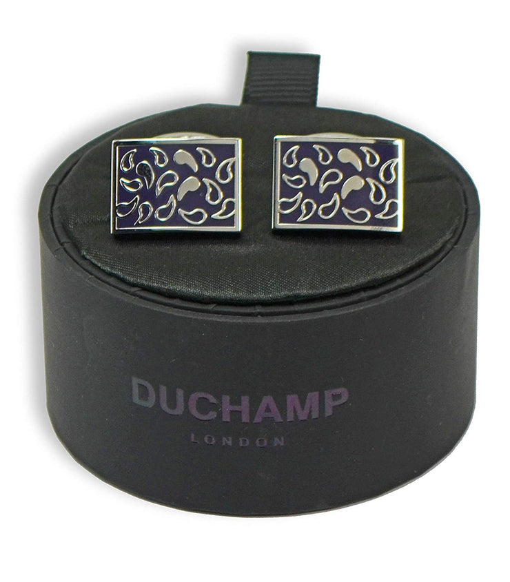 Duchamp London Dark Purple Cuff Links