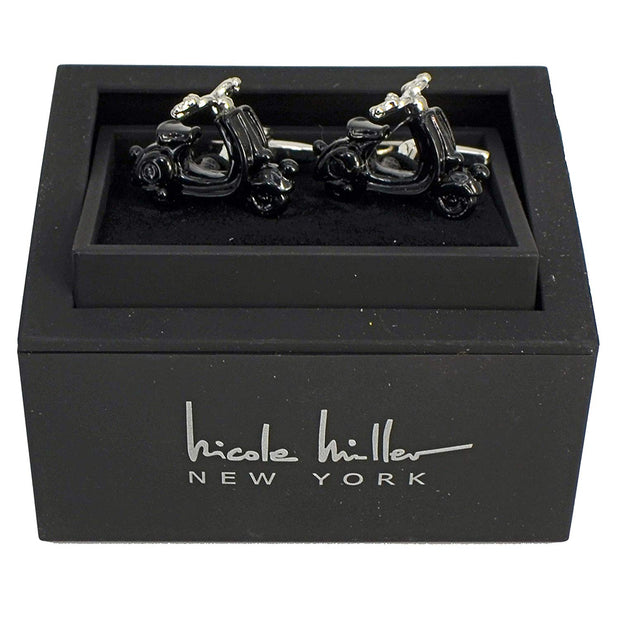 Nicole Miller Studio Motorcycle Cuff Links