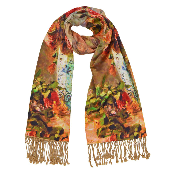 Willow Silk Floral Scarf