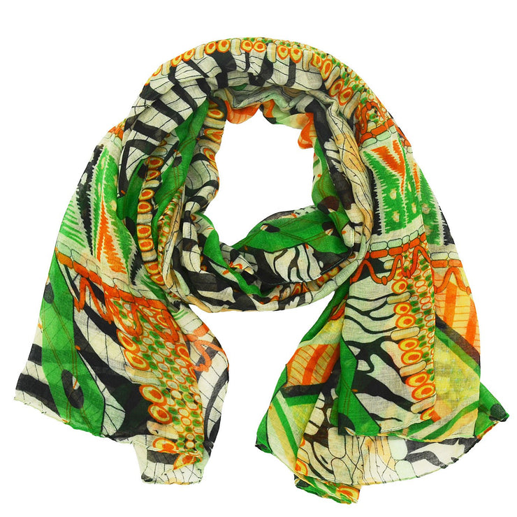 Caroline Abstract Zebra Scarf