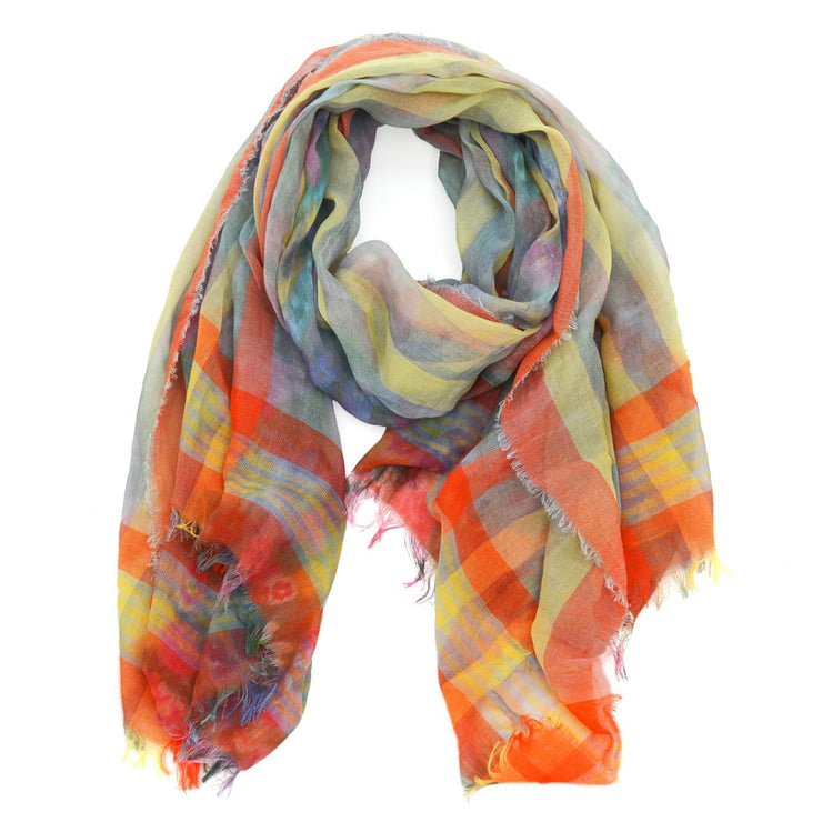 Victoria Striped Floral Scarf