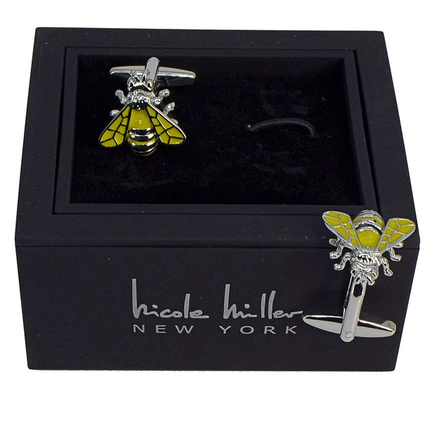 Nicole Miller Studio Bee Cuff Links