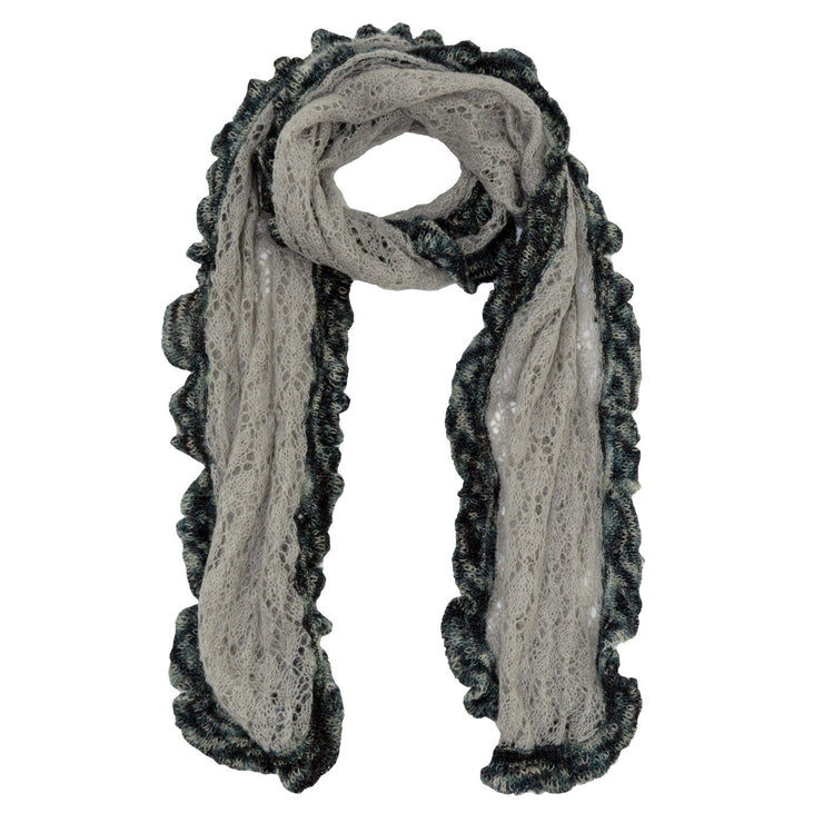 Roffe Accessories Women's Celia Crocheted Mohair with Accent Scarf