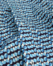 1 Like No Other Mawar Print Blue Shirt