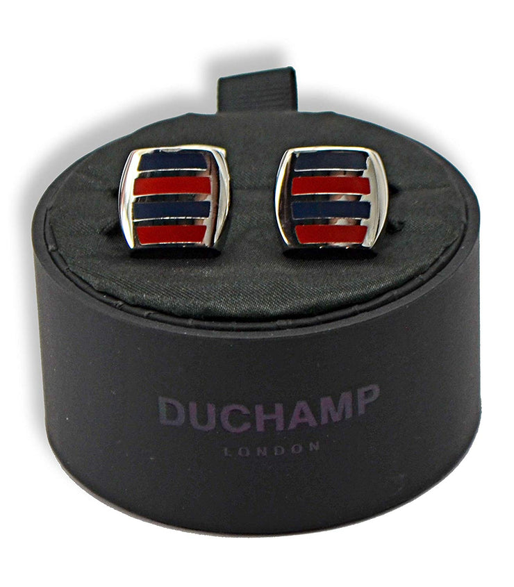 Duchamp London Red and Navy Cuff Links