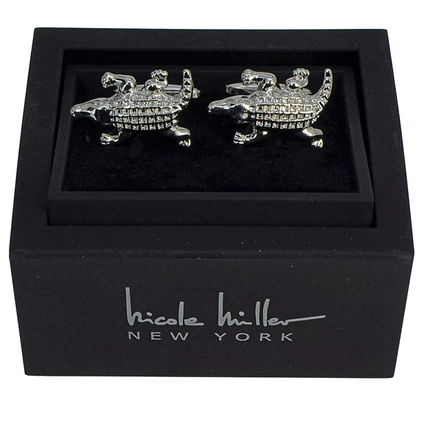 Nicole Miller Studio Alligator Cuff Links