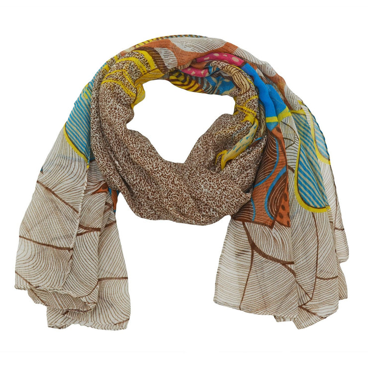 Melody Hearted Abstract Print Scarf