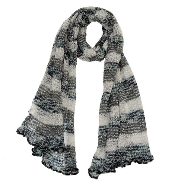 Roffe Accessories Women's Shelby Striped Mohair Scarf