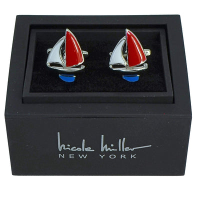 Nicole Miller Studio Sailboat Cuff Links
