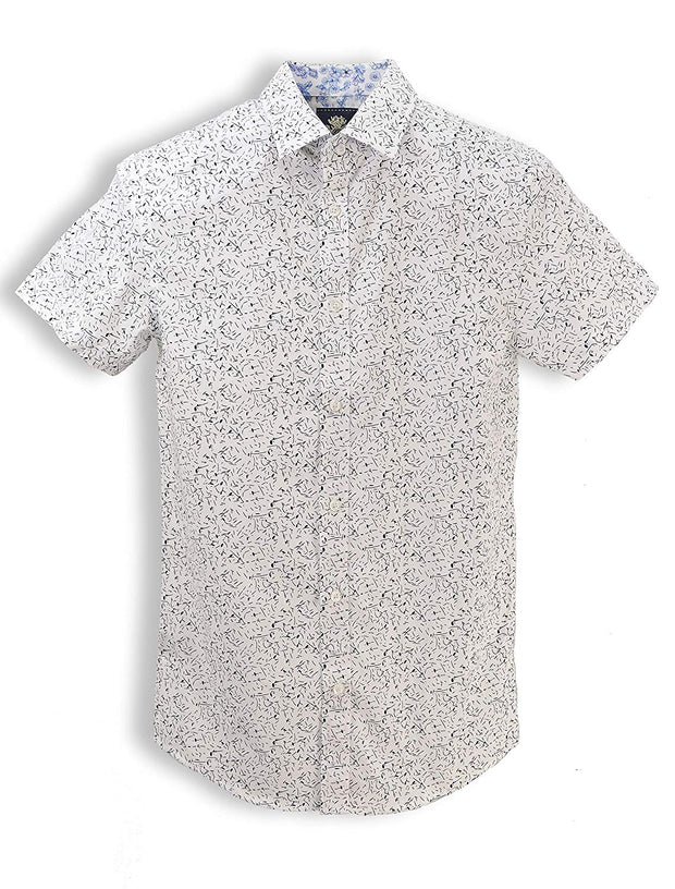 English Laundry Short Sleeve Abstract Shirt