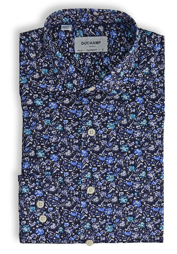 Duchamp London Floral Dress Shirt