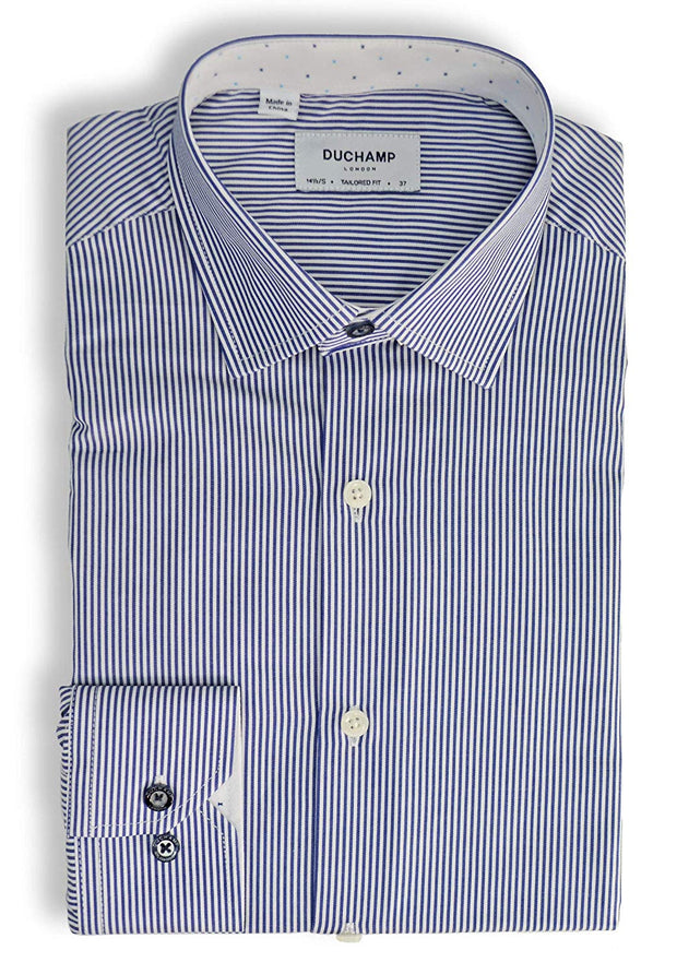 Duchamp London Striped Dress Shirt