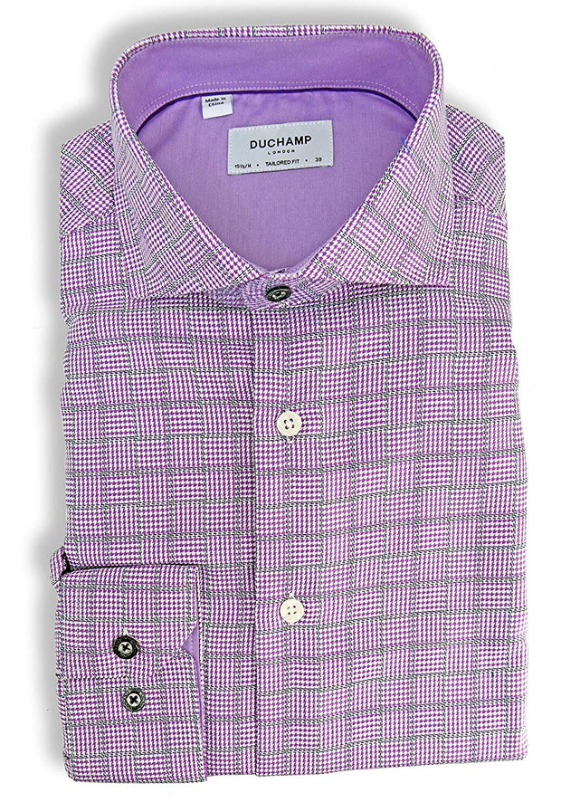 Duchamp London Check Dress Shirt