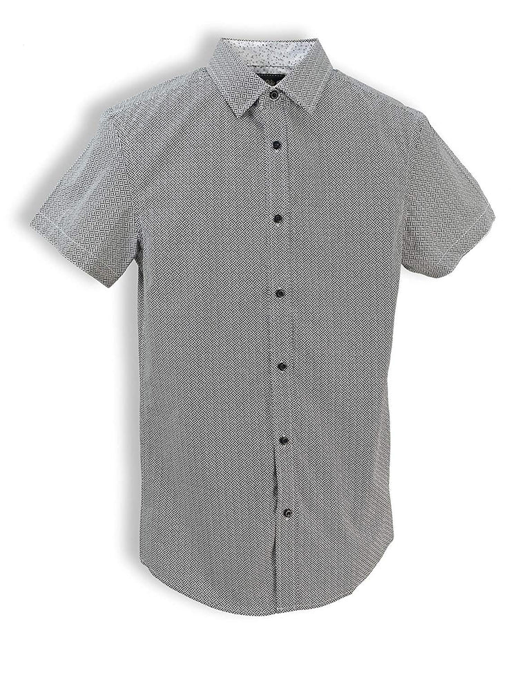 English Laundry Short-Sleeve Geometric Shirt