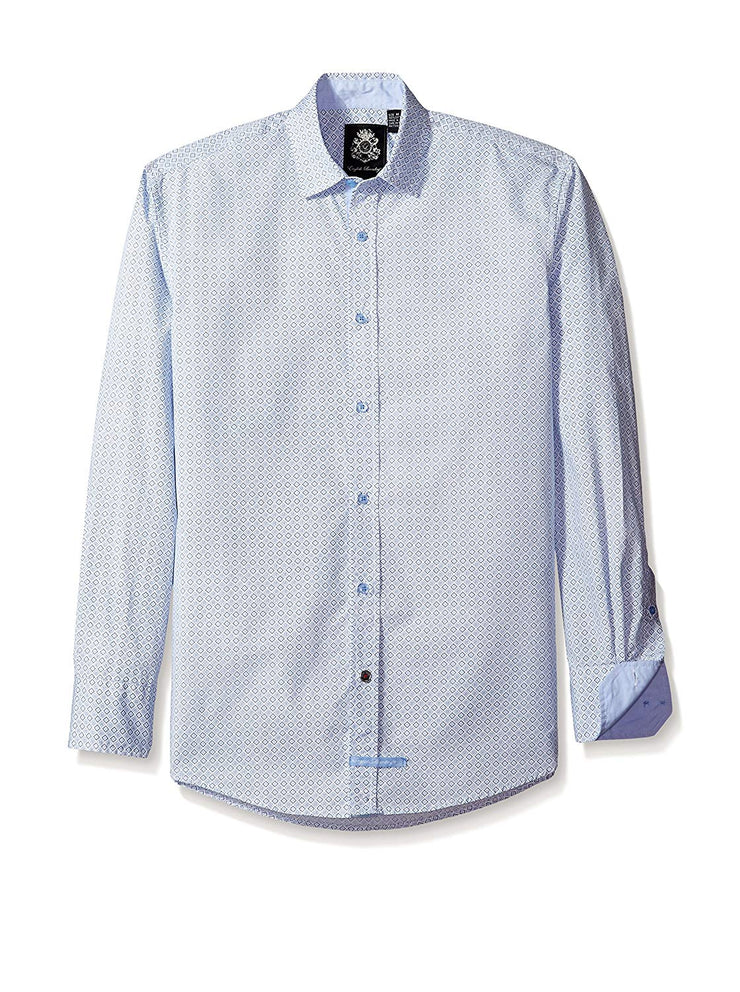 English Laundry Print Sport Shirt ELSS9002 Blue