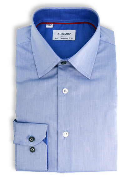 Light Blue Long Sleeve Duchamp Dress Shirt - SHOP ROFFE