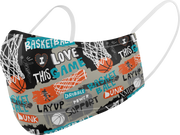 Basketball printed mask for Kids