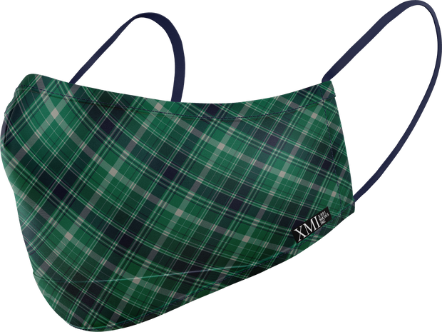 Plaid printed mask