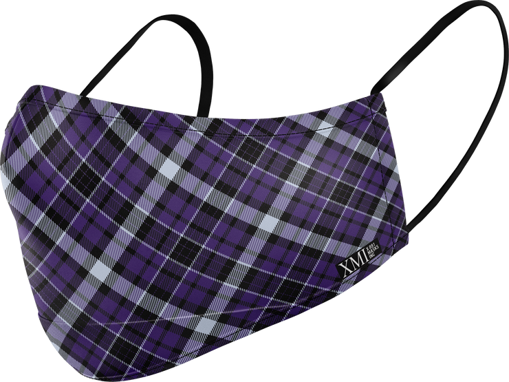 Plaid Purple printed mask